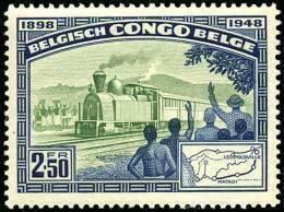 Congo 0296* -  Cinquantenaire Du Chemin De Fer  Sans Gomme Without Gum - 1947-60: Mint/hinged