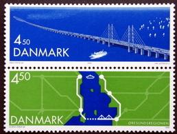 Denmark 2000 Oresund Bridge  MiNr.1253-54  MNH (**) ( Lot  L205 ) - Ongebruikt