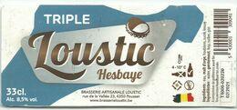 étiquette Décollée Loustic Triple Brasserie Loustic Pousset - Beer