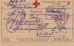Russie Carte Prisonnier De Guerre Censurée Pour L'Autriche 1917 - 1917-1923 Republic & Soviet Republic