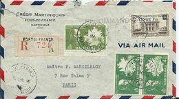MARTINIQUE - Lettre Recommandée Au Départ De FORT DE FRANCE - Martinique (1886-1947)