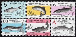 Kazakhstan - 2020 - Red Book Of Kazakhstan - Fish - Mint Definitive Stamp Set - Kazakhstan
