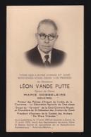 LEON VANDE PUTTE  ( INDUSTRIEL )  LEDEBERG 1883  GENT 1955   2 SCANS - Engagement
