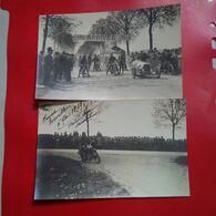 MAGNIFIQUE 4 CARTES PHOTOS TORVILLERS AUBE COURSE MOTO SANDFORD SAROLEA 1928 RARE - Altri Comuni
