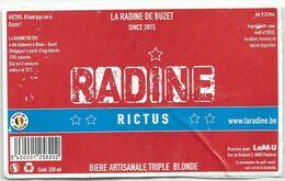 étiquette Décollée Radine Rictus Brasserie La M-U Charleroi - Beer