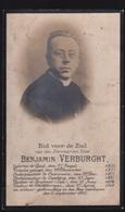 PASTOOR DESTELBERGEN - BANJAMIN VERBURGHT  GENT 1854 - DESTELBERGEN 1901 -   2 SCANS - Engagement