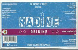 étiquette Décollée Radine Orugine Brasserie La M-U Charleroi - Beer