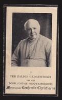 MONSEIGNEUR BENJAMIN CHRISTIAENS   TIELT  1844  - GENT 1931 -   2 SCANS - Engagement