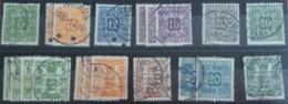 Danemark. Lot De Timbres Taxe Oblitérés. 13(x2), 20, 21, 22, 30(x2), 30A, 30B(x3), 31, 32A, 34(x4), 35(x3).   TB. - Port Dû (Taxe)