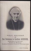 CARDINAL MERCIER   BRAINE L'ALLEUD 1851 - BRUXELLES  1926  -   2 SCANS - Engagement