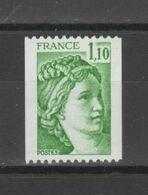 FRANCE / 1979 / Y&T N° 2062 ** : Sabine 1.10 F (roulette Sans N° Rouge) X 1 - Ungebraucht