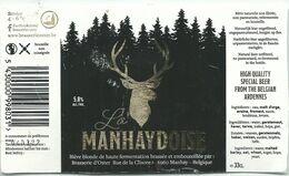 étiquette Décollée La Manhaydoise Brasserie Oster Manhay - Beer