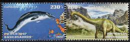 Armenia - 2020 - Flora And Fauna Of The Ancient World - Basilosaurus And Diplodocus - Mint Stamp Set - Armenien