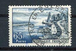 """FRANCE - EVIAN - N° Yvert 1131 Obliteration Ronde De """"BOURG EN BRESSE"""" De 1958 - Oblitérés"""