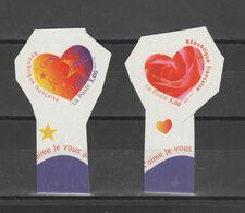 """FRANCE / 1999 / Y&T N° 3220/3221 ** Ou AA 27/28 ** : Les 2 TP """"Cœurs Aurélie Baras"""" De Carnet X 1 Paire - Adhesive Stamps"""