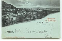 Souvenir De RODANGE - Carte à La Lune - Mondscheinkarten - Rodange