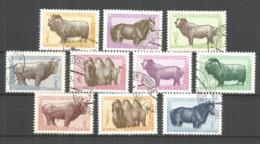 Mongolia 1958 Used Stamps CTO , Animals - Mongolia