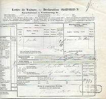 SH 0620. Lettre De Voiture (complète) - Cach. Oblong MALINES / 14 JUIL 79 De MALINES à Charleroi. - Fragmenten & Brieven