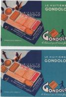 2 Buvards Publicitaires Anciens Différents/Biscuit/Le Huitiéme GONDOLO/Le Biscuit Qu'il Vous Faut/.vers 1950-60  BUV513 - Koek & Snoep