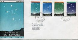 Botswana Mi# 84-7 Used On Official FDC - Night Sky, Astrology - Botswana (1966-...)