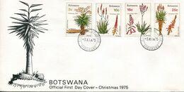 Botswana Mi# 143-6 Used On Official FDC - Flora - Botswana (1966-...)