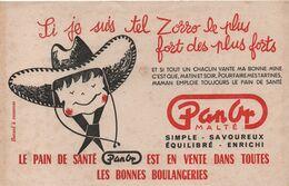 Buvard Publicitaire Ancien /Pain De Santé/ PANOR Malté / Si Je Suis Tel ZORRO Le Plus ..../vers 1950-60  BUV515 - Pain D'épices