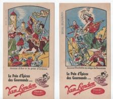 2 Buvards Publicitaires Anciens  /Pain D'Epices/ VAN LYNDEN Enrichi/Jeanne Hachette/Jeanne D'Arc/vers 1950-60  BUV516 - Pain D'épices