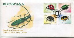 Botswana Mi# 893-6 Used On Official FDC - Fauna Beetles - Botswana (1966-...)
