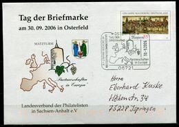 "Germany 2006 Privatplusbrief/Cover 06721 Osterfeld  Mi.Nr.USo101 Mit SST""Osterfeld-Tag Der Briefmarke,Matzturm""1 Beleg - Brieven"