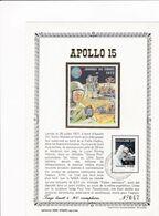 Feuillet Tirage Limité 300 Exemplaires 1622 Apollo 15 Espace Astronaute - Panes