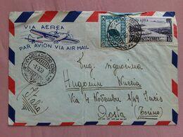 SOMALIA AFIS - Posta Aerea - Aerogramma Spedito In Italia - Annullo Arrivo (busta Difettosa Retro)+ Spese Postali - Somalia (AFIS)
