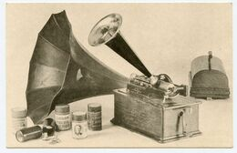 Phonographe Edison Home C.  Photo Bucourt. Collection Galand. Carte Numérotée 000262. Musée. - Musées
