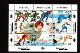 Olympische Spelen  1992, Guyana - Blok Postfris - Verano 1992: Barcelona