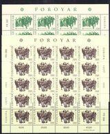 Europa Cept 1981 Faroe Islands 2v 2 Sheetlets ** Mnh ROCK BOTTOM PRICE (F8418) - Europa-CEPT