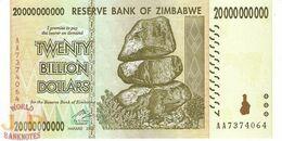ZIMBABWE 20 BILION DOLLARS 2008 PICK 86 UNC - Zimbabwe