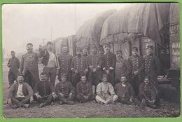Rare Carte Photo CPA MONTPELLIER La Gare Soldat Guerre 1914 - 1918 Train Fourrage 34 Hérault 16 Eme Régiment - Montpellier