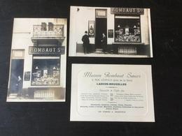 2 Anciennes Cartes Photos De La Maison Rombaut Sœurs à Laeken - Laeken