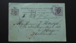SURINAME PREPAID UNION POSTALE UNIVERSELLE POST CARD POSTMARK  PARAMARIBO / GEORGE TOWN / LIVERPOOL Etc 1892 - Surinam