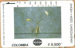 Colombia - CO-MT-51, Tamura, Dos Cartuchos Sobre Verde, Santiago Cardenas, Art, 5,500 $, 10.000ex, Used - Kolumbien