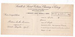 Doc. 1932 Manufactures Des Glaces & Produits Chimiques De Saint Gobain, Chauny & Cirey, I. Giocanti, Cette (Sète) - France