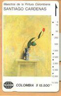 Colombia - CO-MT-54, Tamura, Tulipan Sobre Amarillo, Santiago Cardenas, Art, 15,500 $, 10.000ex, Used - Colombia