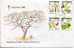 Botswana Mi# 482-5 Used On Official FDC - Flora - Botswana (1966-...)