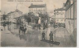 DEPT 16 : Lire Le Dos Edit. L Lebon N° 8 : Jarnac Rue Abel-Guy , Inondation Du 19 Février 1904 - Jarnac