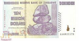 ZIMBABWE 10 BILION DOLLARS 2008 PICK 85 UNC - Zimbabwe