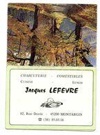 Calendrier Montargis Charcuterie Lefevre 1976 - Calendari