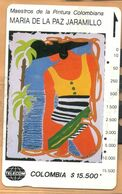 Colombia - CO-MT-50, Tamura, Mujer Caribe, Maria De La Paz Jaramillo, Art, 15,500 $, 10.000ex, Used - Colombia
