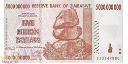 ZIMBABWE 5 BILLION DOLLARS 2008 PICK 84 UNC - Zimbabwe