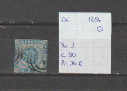 Denemarken 1854 - Yv. 3/Mi. 3 - 2s Blauw Gest./obl./used - Oblitérés