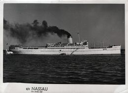 "S/S CRUISE SHIP ""NASSAU"" VINTAGE 1961-Misura : 13 X 17,50- - Piroscafi"