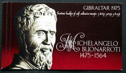 Gibraltar 1975326-328a Booklet,MNH.Michel 334B-336B.MNH (**) Sculptures By Michelangelo ( Lot 294) - Gibraltar